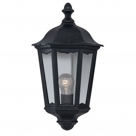 ALEX OUTDOOR WALL LIGHT - 1LT BLACK 'HALF'