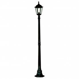 ALEX OUTDOOR POST LAMP - 1LT BLACK Ht183cm
