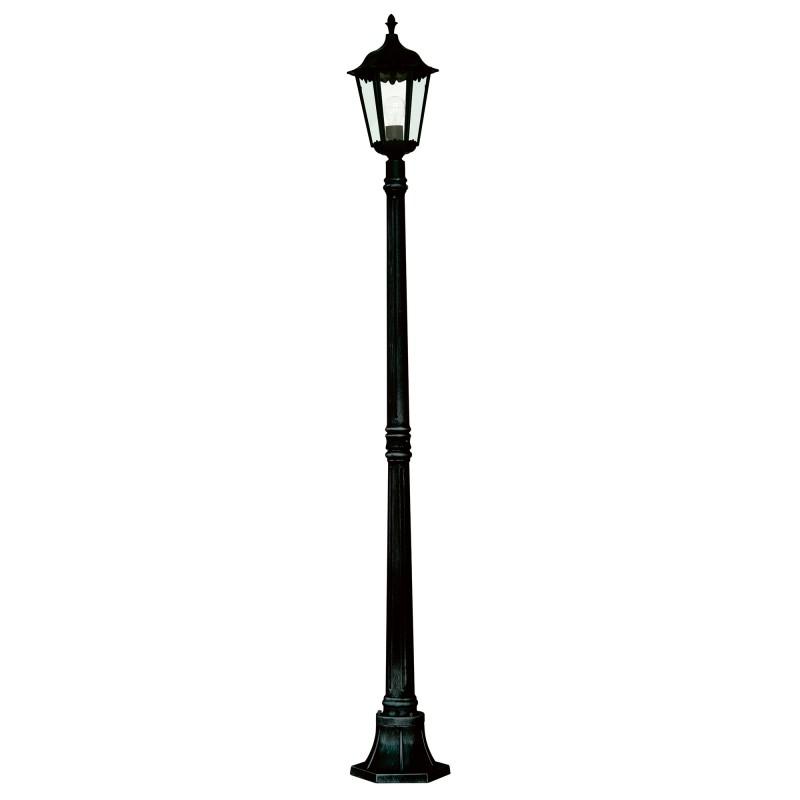 ALEX OUTDOOR POST LAMP - 1LT BLACK Ht183cm