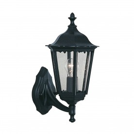 ALEX OUTDOOR WALL LIGHT - 1LT BLACK UPLIGHT
