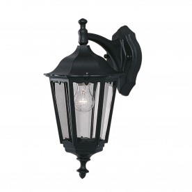 BEL AIRE OUTDOOR WALL LIGHT - 1LT BLACK D/LT