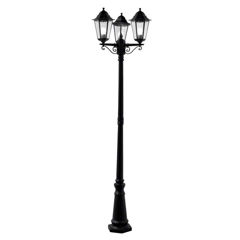 ALEX OUTDOOR POST LAMP - 3LT BLACK Ht 220
