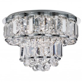 HAYLEY 4LT CEILING FLUSH CHROME CLEARL CRYSTAL BALLS DROPS