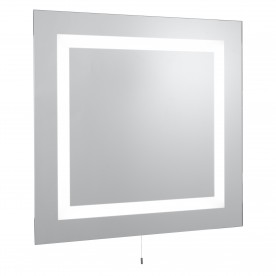 MIRROR BATHROOM LIGHT IP44 ILLUMINATED MIRROR RECTANGULAR - 2LT MIRROR GLASS