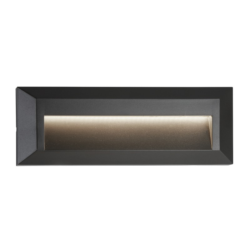 ANKLE OUTDOOR 1LT LED SLOT WALL LIGHT DARK GREY