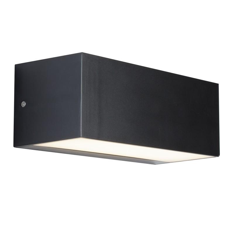 LED OUTDOOR 1LT WALL BRACKET (22CM) DARK GREY/OPAL