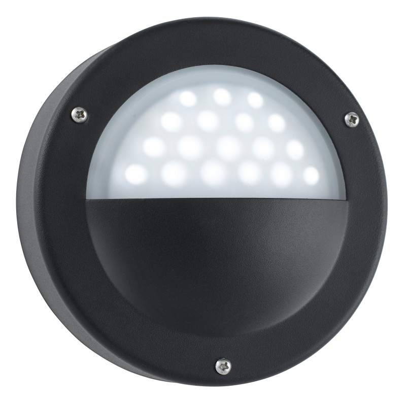 LED OUTDOOR WALL LIGHT BLACK - WHITE LED