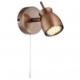 JUPITER 1LT ANTIQUE COPPER SPOTLIGHT