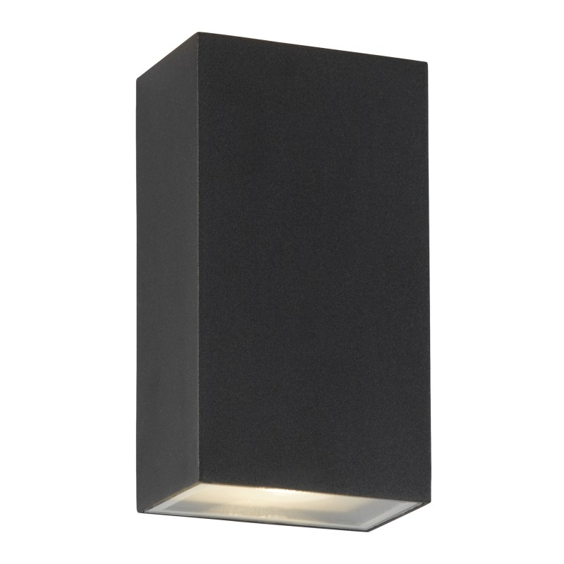 LED OUTDOOR UP/DOWN  RECTANGLE WALL BRACKET BLACK