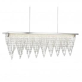 DRAPE LED CEILING BAR (65cm LENGTH) CHROME CRYSTAL WATERFALL DRESSING