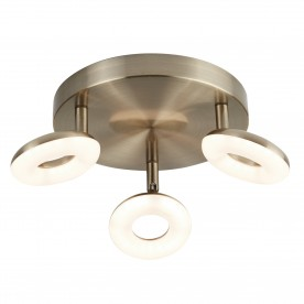 DONUT 3LT LED SPOT LIGHT ANTIQUE BRASS