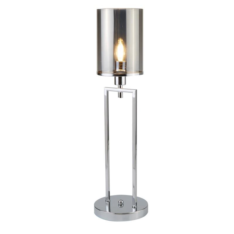 CATALINA 1LT TABLE LAMP CHROME SMOKED GLASS SHADES