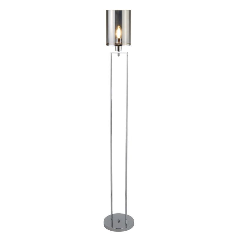 CATALINA 1LT FLOOR LAMP CHROME SMOKED GLASS SHADES