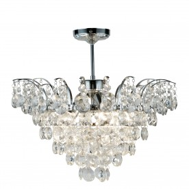 LIMOGES 3LT CC SEMI FLUSH-SUNFLOWER XTAL