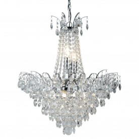 LIMOGES 6LT CC CHANDELIER-SUNFLOWER XTAL