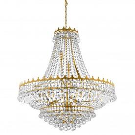 VERSAILLES -  13LT (DIA 82cm) CLEAR CRYSTAL CHANDELIER GOLD FRAME