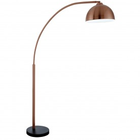 GIRAFFE - COPPER FLOOR LAMP BLACK BASE