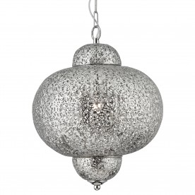 FRETWORK  - 1LT PENDANT SHINY NICKEL