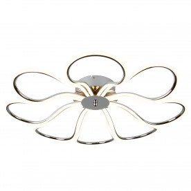 FOLIAGE 8LT LED CEILING FLUSH CHROME