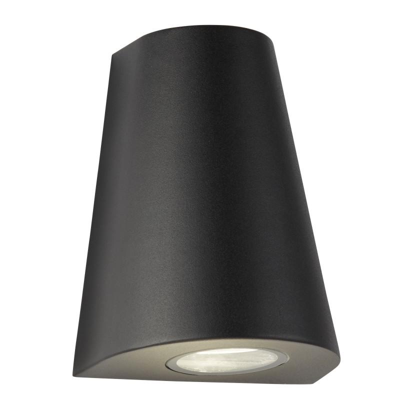 LED OUTDOOR 2LT CURVED WALL BRACKET BLACK