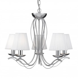 ANDRETTI - 5LT CEILING CHROME WHITE STRING SHADES