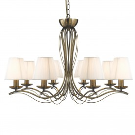 ANDRETTI - 8LT CEILING ANTIQUE BRASS CREAM STRING SHADES