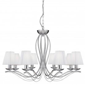 ANDRETTI - 8LT CEILING CHROME WHITE STRING SHADES