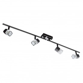 LED BLOCS - 4LT SPOTLIGHT SPLIT-BAR BLACK CHROME CLEAR GLASS (ICE CUBE)
