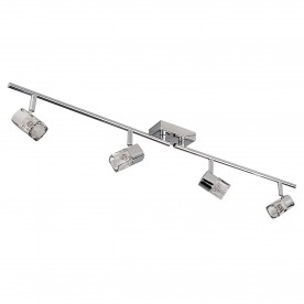 LED BLOCS - 4LT SPOTLIGHT SPLIT-BAR CHROME CLEAR GLASS (ICE CUBE)