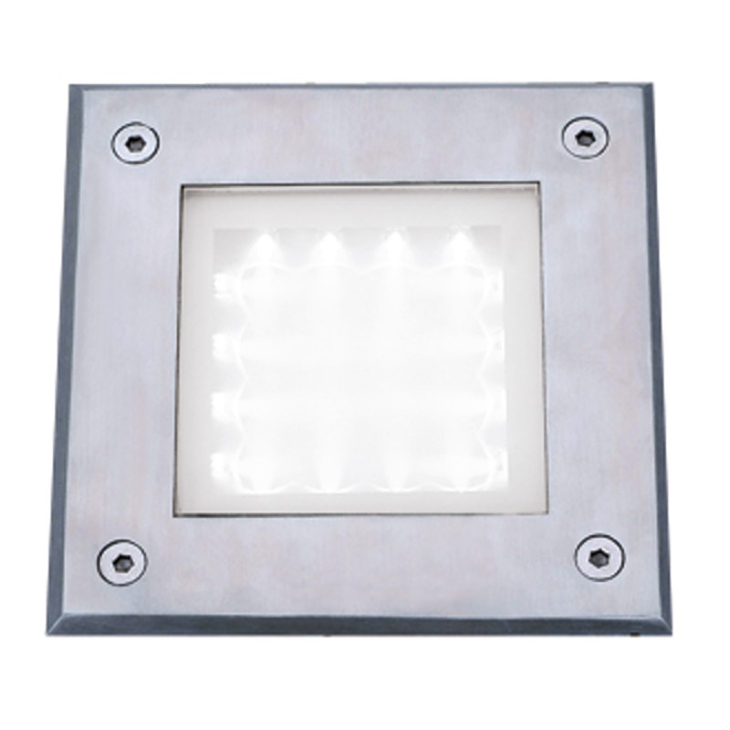 LED OUTDOOR&INDOOR  RECESSED WALKOVER SQUARE STAINLESS STEEL  - WHITE LED