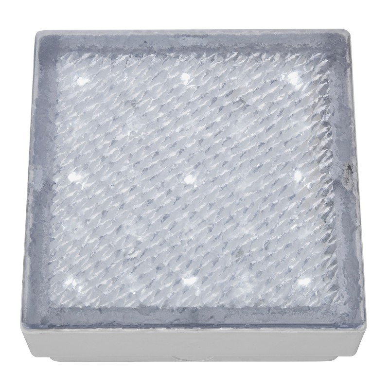 LED OUTDOOR&INDOOR  RECESSED WALKOVER CLEAR SMALL SQUARE - WHITE LED