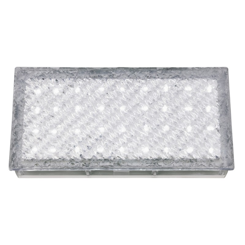 LED OUTDOOR&INDOOR  RECESSED WALKOVER CLEAR RECTANGLE  - WHITE LED