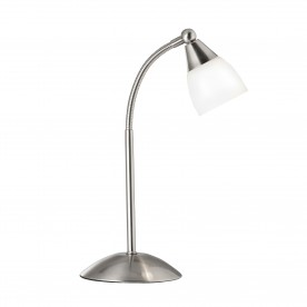 TOUCH TABLE LAMP SS - WHITE GLASS