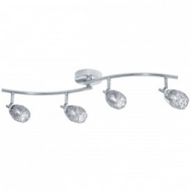 MESH SPOT I - 4LT SPOTLIGHT SPLIT BAR CHROME MESH SHADES