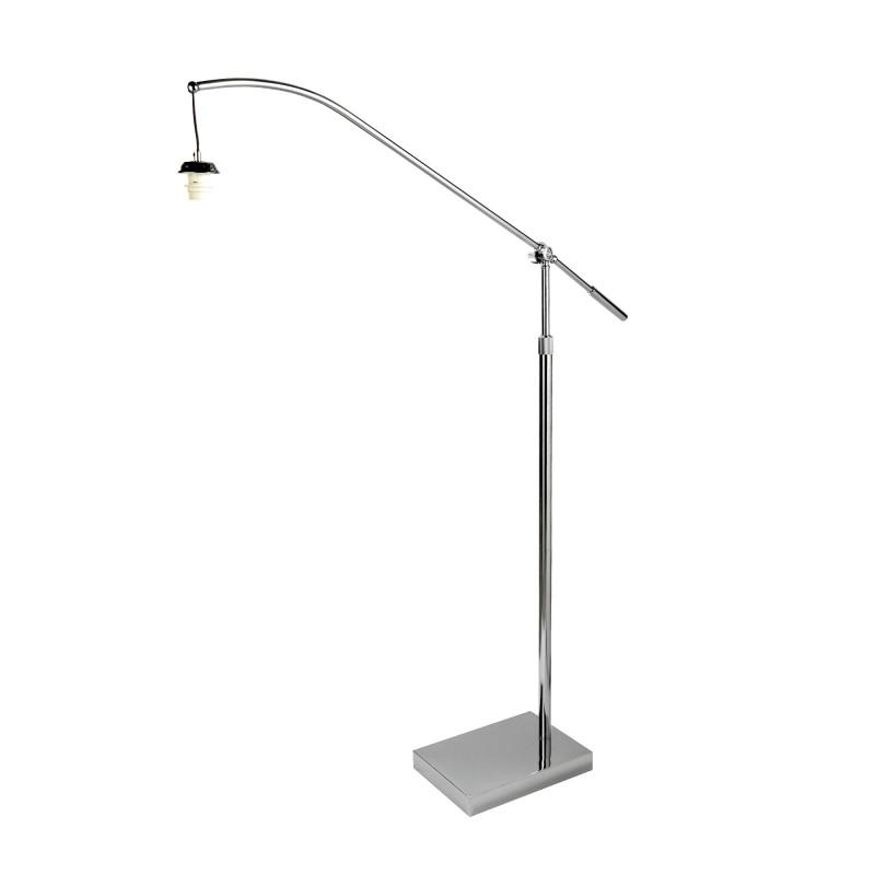 SWING ARM XL - FRAME ONLY - ARC ARM FLOOR LAMP CHROME