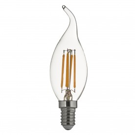LED LAMPS PACK 10 x E14 LED FILAMENT CANDLE FLAME TIP LAMP - 4W 420LM 3000K WW