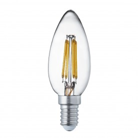 LED LAMPS PACK x 10 - E14 LED FILAMENT CANDLE LAMP - 4W 420LM WARM WHITE 2700K