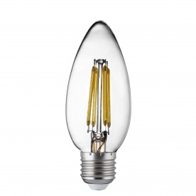 LED LAMPS PACK x 10 - E27 LED FILAMENT CANDLE LAMP - 4W 400LM WARM WHITE 2700K