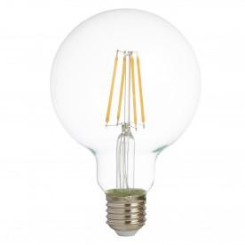 LED LAMPS PACK x 5 - LED FILAMENT GLOBE LAMP (95mm) CLEAR GLASS E27 6W 600LM 2700K