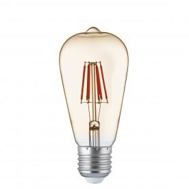 LED LAMPS PACK x 5 - LED AMBER GLASS FILAMENT SQUIRREL BULB E27 6W 600LM