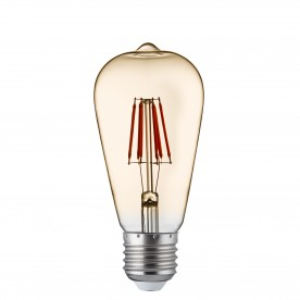 LED LAMPS PACK x 5 - DIMMABLE LED FILAMENT SQUIRREL LAMP AMBER GLASS E27 6W 600LM