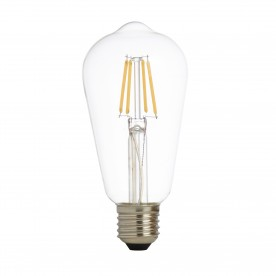 LED LAMPS PACK x 5 - DIMMABLE LED FILAMENT SQUIRREL LAMP CLEAR GLASS E27 6W 600LM 2700K