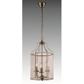 Lantern 3 Light Hexagonal - Antique