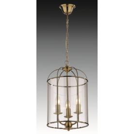 Lantern 3 Light Round - Antique