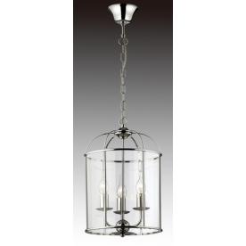 Lantern 3 Light Round - Chrome