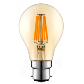 WESTLITE - A60 Amber 6W B22 Dimmable