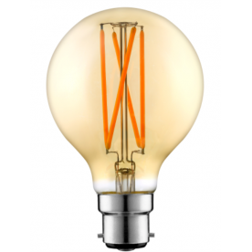 Westlite Lamp - G95 Amber 6.5W E27 Dimmable