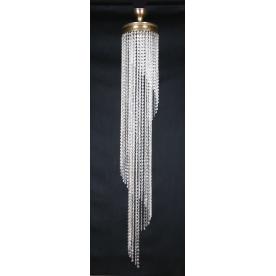Trebon 5 Light Flush 1.35m Nickel Crystal Pendant
