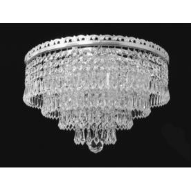 Trebon 6 Light Crystal Flush Light