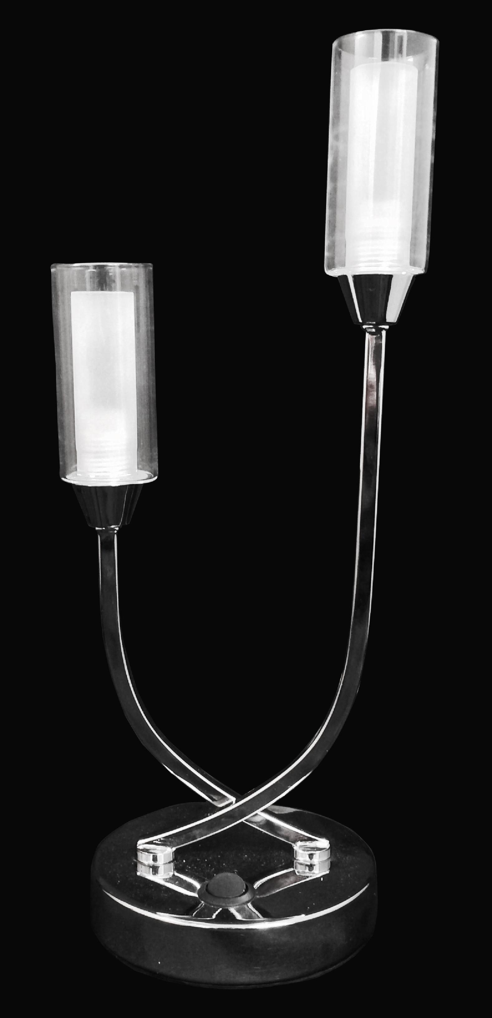 Canarina table lamp satin nickel lumination lighting canarina table lamp satin nickel mozeypictures Image collections